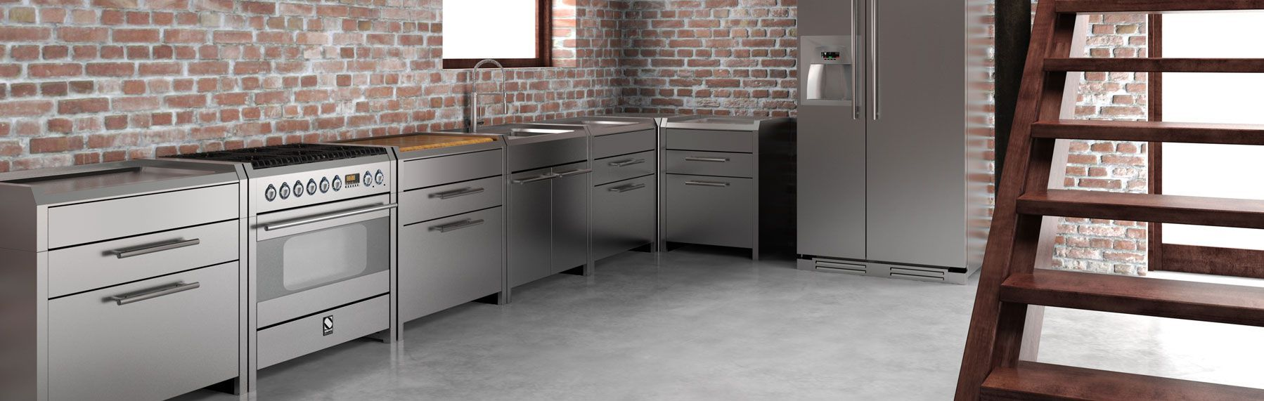 Sintesi 120 – Steel Cucine